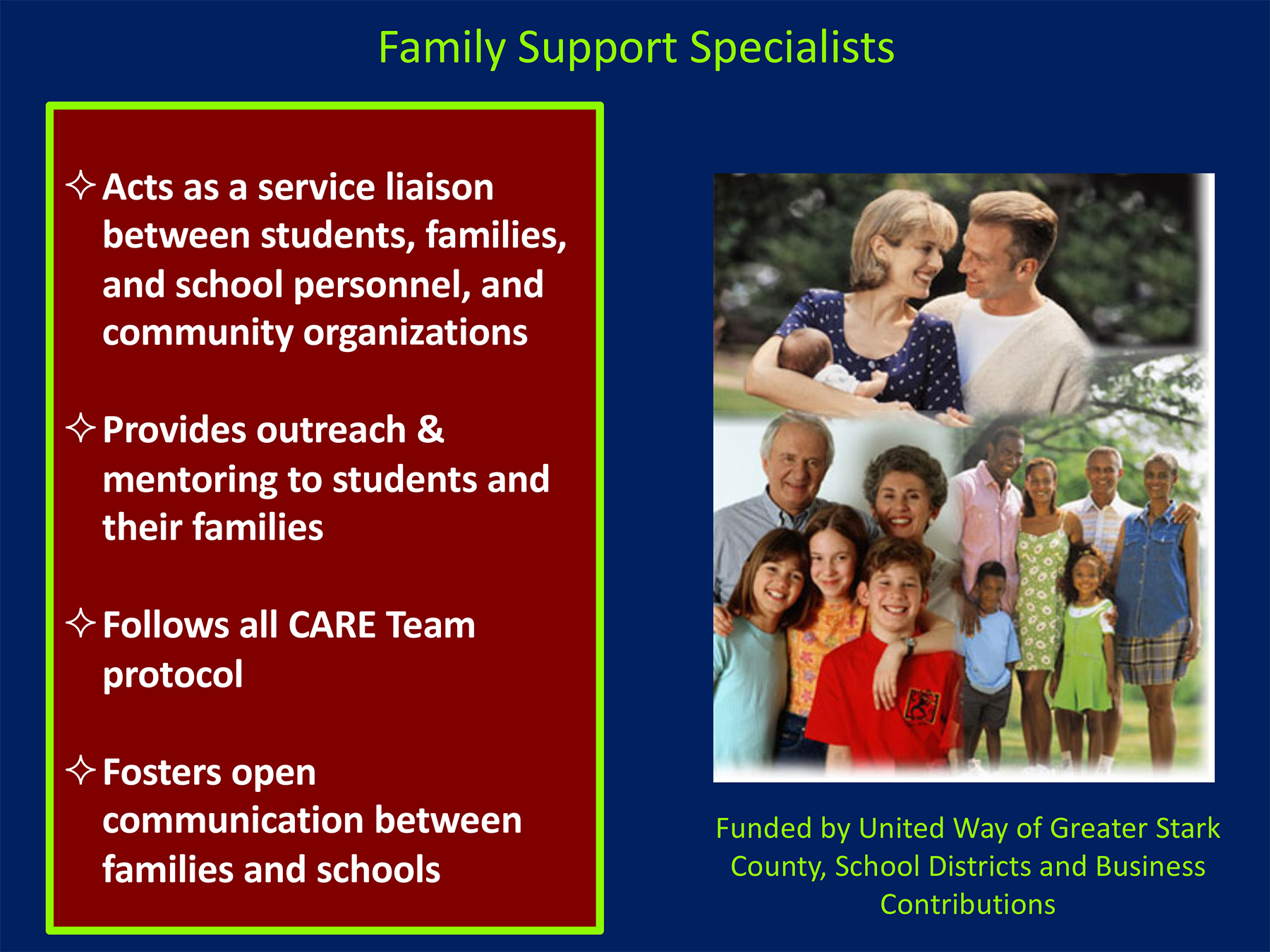 Family Support Specialists role