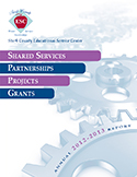 2012-13 Annual Report Cover: Shared Services, Partnerships, Projects, Grants